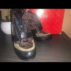 Brand New Guess Camo Ankle Bootie